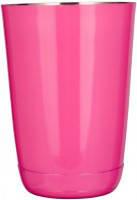 """Шейкер """"Бостон"""" мини, розовый 400 мл, h115, Индия"""