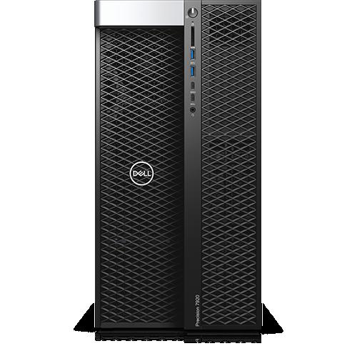 Dell Precision 7920 Tower Intel Xeon Platinum 8168 2.7GHz, 3.7GHz Turbo, 24C, 10.4GT/s 3UPI, 33MCache, HT(205W) DDR4-2666, 64GB (4x16GB) 2666MHz DDR4