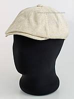 Мужская кепка-восьмиклинка канва беж