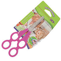 Ножницы детские обучающие с линейкой 16,5см ZIBI ZB.5019_Розовый