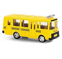 Коллекционная металлическая инерционная модель (детская машинка) - автобус ПАЗ, 6523E
