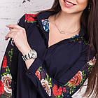 Женская блуза с вышивкой весна-лето 2018 - розочки - (код бл-161), фото 4