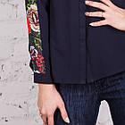 Женская блуза с вышивкой весна-лето 2018 - розочки - (код бл-161), фото 3