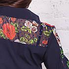 Женская блуза с вышивкой весна-лето 2018 - розочки - (код бл-161), фото 5