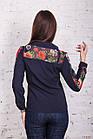 Женская блуза с вышивкой весна-лето 2018 - розочки - (код бл-161), фото 6