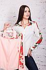 Женская блуза с вышивкой весна-лето 2018 - розочки - (код бл-161), фото 7