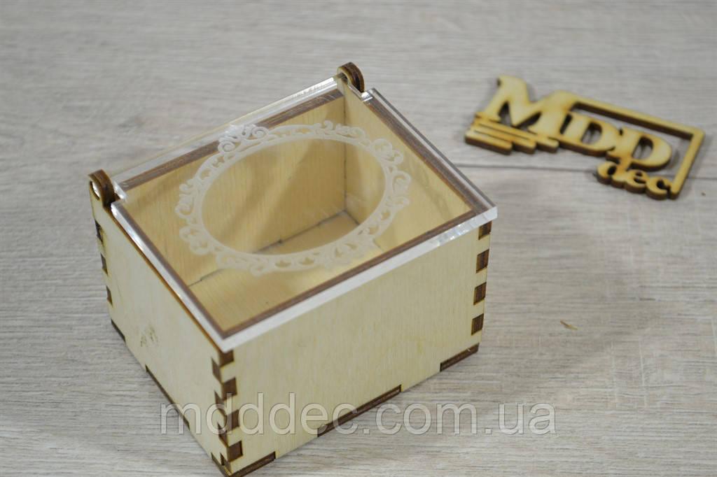 Деревянная шкатулка для колец