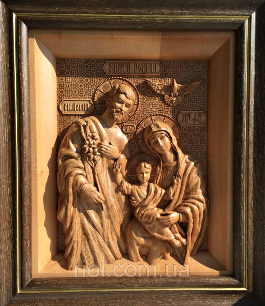 Икона из дерева Святое семейство (Свята родина)
