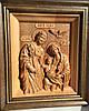 Икона деревянная резная Святое Семейство / Свята Родина