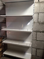 Полка на стеллаж торговый металлический 100х30см.,60х30см..
