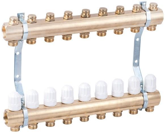 """Коллектор """"AW"""" для радиаторной разводки и теплых полов на 12 контуров"""