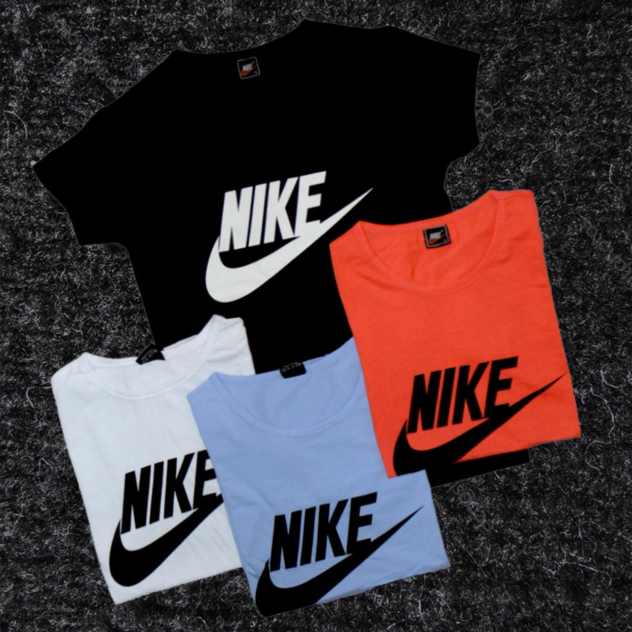 5ee93487 Женская футболка NIKE , белая, черная, голубая, оранжевая . футболки ...