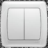 Выключатель 2-х клавишный VIKO Carmen Белый