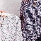 Женская блуза батал весна-лето 2018 - Горошек - (код бл-165), фото 2