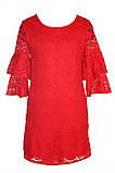 Яркое Нарядное платье  из кружевного гипюра 140-152р, фото 2