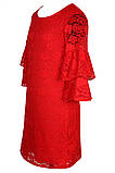 Яркое Нарядное платье  из кружевного гипюра 140-152р, фото 6