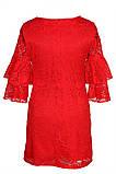 Яркое Нарядное платье  из кружевного гипюра 140-152р, фото 7