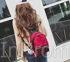 Рюкзак Amelie Velor Red, фото 3