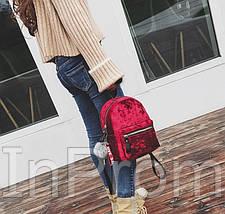 Рюкзак Amelie Velor Red, фото 2