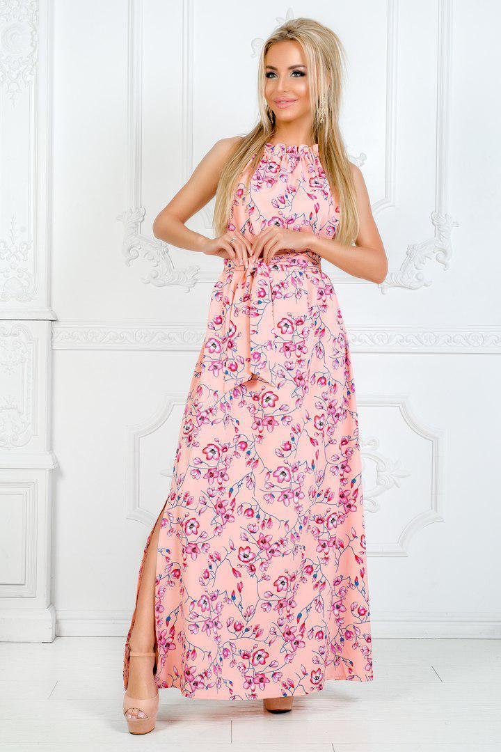 1d771bd2d2f Женское летнее длинное платье сарафан в разных цветах - интернет магазин  (Николь Шоппинг) в