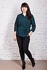 Легкая женская блуза больших размеров весна-лето 2018 - Горошек - (код бл-166), фото 3