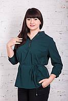 Легкая женская блуза больших размеров весна-лето 2018 - Горошек - (код бл-166), фото 1