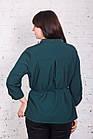 Легкая женская блуза больших размеров весна-лето 2018 - Горошек - (код бл-166), фото 2