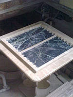 Стол для нард из мрамора, нарды из мрамора