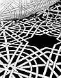 Постельное белье Karaca Home сатин Creantes черное евро размер, фото 4