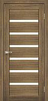 Дверь PORTO PR-01. Со стеклом cатин (дуб браш, ясень белый, эш-вайт). KORFAD (КОРФАД)