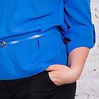 Легкая женская блуза с пояском весна-лето 2018 - Горошек - (код бл-168), фото 4