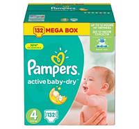 ПОДГУЗНИКИ PAMPERS ACTIVE BABY MAXI   4 (8-14 КГ) MEGA 132 ШТ.