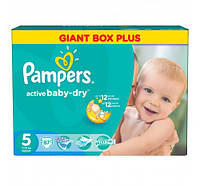 ПОДГУЗНИКИ PAMPERS ACTIVE BABY JUNIOR  5  (11-18 КГ) MEGA 87 ШТ.