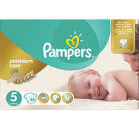 ПОДГУЗНИКИ PAMPERS PREMIUM CARE JUNIOR   5 (11-18 КГ) MEGA 88ШТ