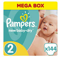 Pampers New Baby-Dry Mini 2   ( 3-6 кг.)  (144 шт.)