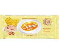 ВЛАЖНЫЕ САЛФЕТКИ SMILE BABY С ЭКСТРАКТОМ РОМАШКИ, АЛОЭ  60 ШТ