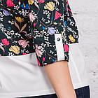 Цветочная женская блузка весна-лето 2018 - (код бл-169), фото 4