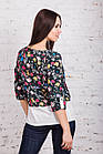 Цветочная женская блузка весна-лето 2018 - (код бл-169), фото 5
