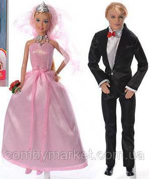 Куклы DEFA 8305 жених и невеста розовый