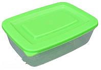 Судочек пластиковый прямоугольный 1 литр