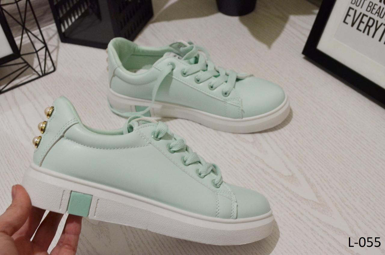 9131272b Кеды женские мятные, красивые, удобные, легкие, женская обувь -  Интернет-магазин