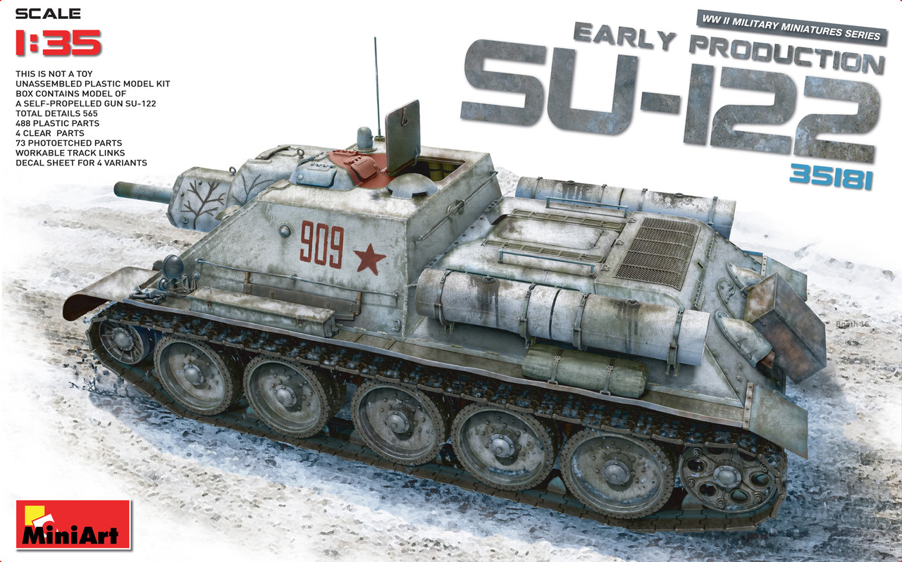 СУ-122 Ранних выпусков без интерьера. 1/35 MINIART 35181