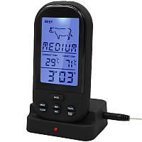 Термометр кухонний Thermo YB414-SZ Black (0 до +250 °С), з функцією будильник і таймер (дальність до 30м), фото 1