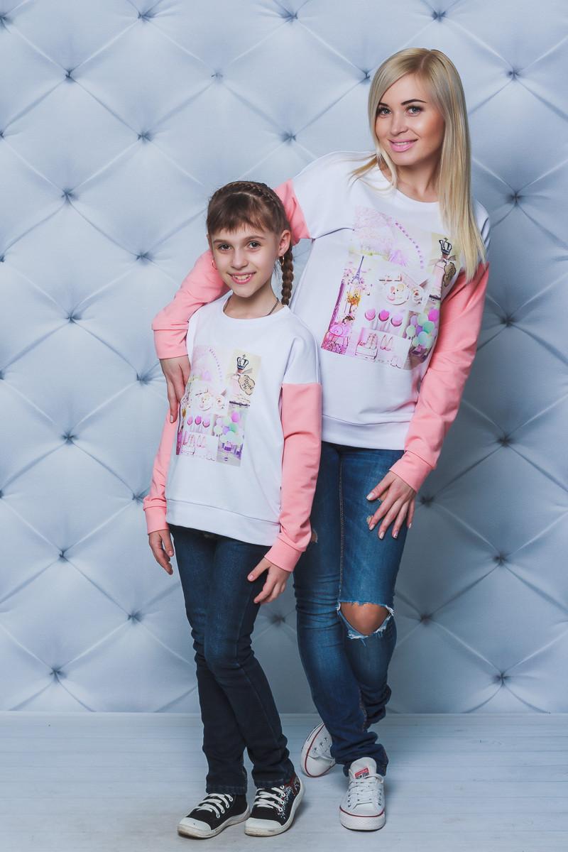 Кофта для девочки с печатью персик
