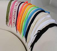 Набор плоских шнурков 3 шт любых цветов на выбор!!! Арт. 1175 реплика