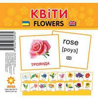 """Карточки - мини для малышей """"Цветы"""""""