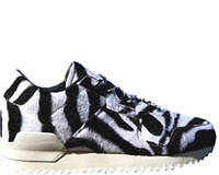 """Женские кроссовки Adidas ZX 700 Remastered Zebra """"Black/White"""" Арт. 0856 реплика"""