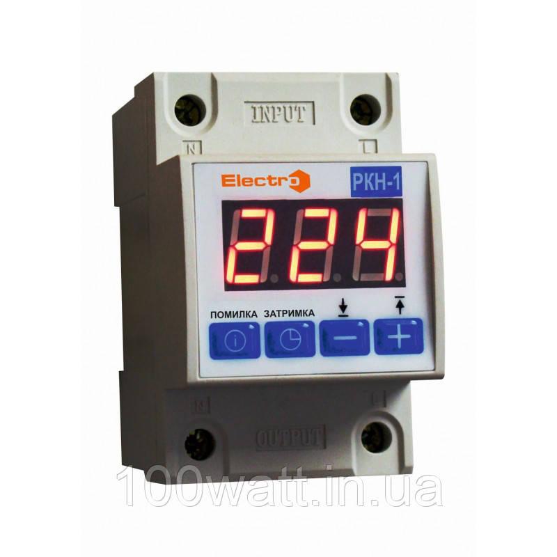 Реле контроля напряжения 1 фазный РКН-1 40А регулируемый