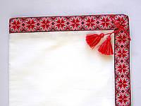 Крыжма для крестин с узором вышивки 100% хлопок