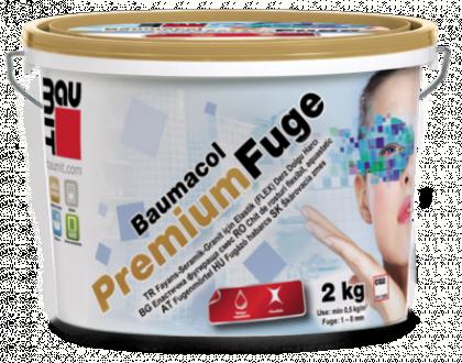 Вaumit  Premium Fuge затирка для швів сірий цемент  (2мм-7мм)  2кг